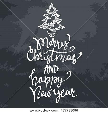 Christmas banners. Merry Christmas handwritten calligraphy font. Christmas card. Merry Christmas hand written font.