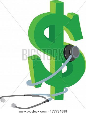 stethoscope Dollar Currency Control Health Economics stethoscope Dollar Currency Control Health Economics