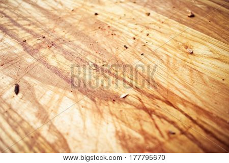 Texture Of Wooden Board With Pizza Crumbs