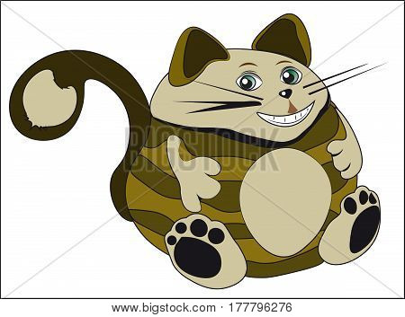 the lovely fat brown Cheshire cat smiles