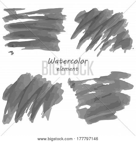 Watercolor vector background. Hand drawing with colored spots and blotches.