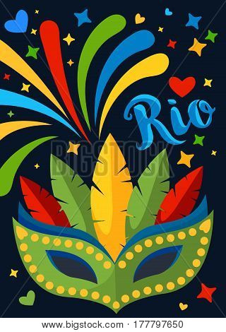 Brazil Carnival Background for Placard, Poster, Flyer and Banner Design.