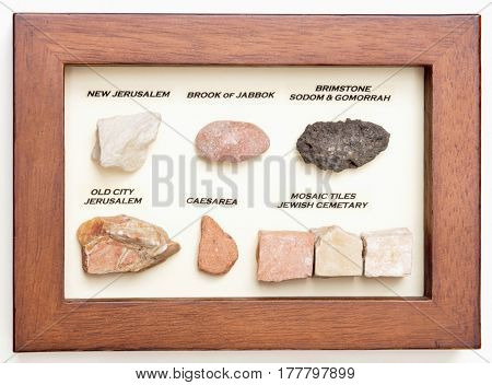 Labeled Israel Stones