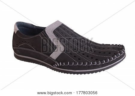 Simple men shoes from leather very fancy fashion
