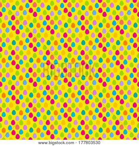 Easter Egg Hunt Seamless Pattern