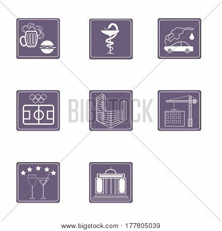 icons for sites, bar, medicine, developers, buisenesscenters, restourants, stadions, pizzahouse,night clubs,hotel