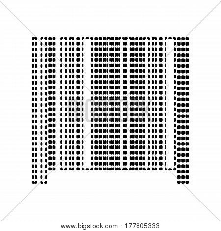 Bar code sign. Vector. Black dashed icon on white background. Isolated.