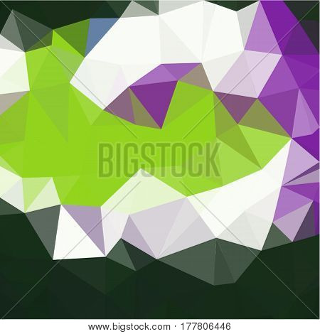 Abstract background of small triangles polygon blue and pink and green and yellow and white fragments light and dark sharp throughout the drawing