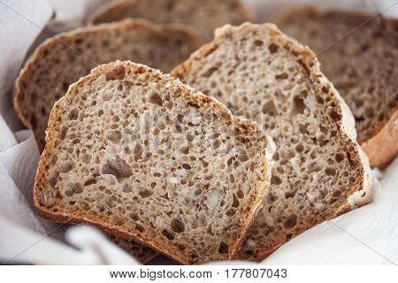 Whole Wheat Bread with Leaven (healthy food)