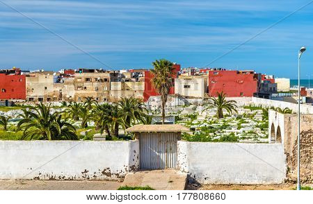 Cemetery in El Jadida town in Morocco, North Africa