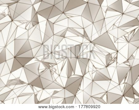 3D illustration - White and brown low poly texture