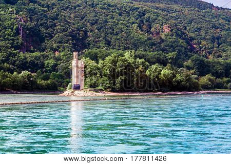 The Mouse Tower (Mauseturm) is a stone tower on a small island in the Rhine outside Bingen am Rhein Germany.