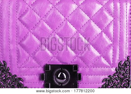 Texture Of Quilted Leather Bag