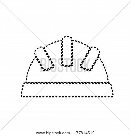 Baby sign illustration. Vector. Black dashed icon on white background. Isolated.