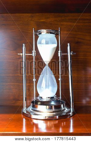 elegance hourglass on table