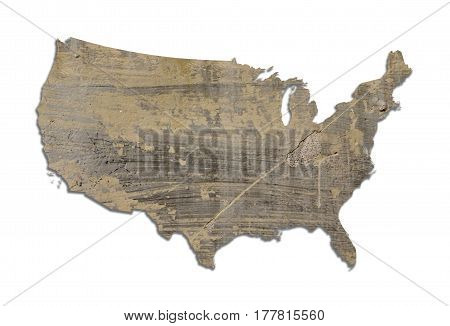 Usa Textured Map