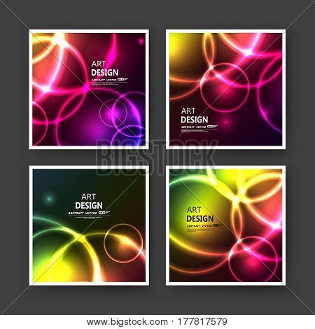Abstract composition. Bright a4 brochure cover design. Patch info banner frame. Text font. Title sheet model set. Modern vector front page. Brand logo texture. Color figures image icon. Ad flyer