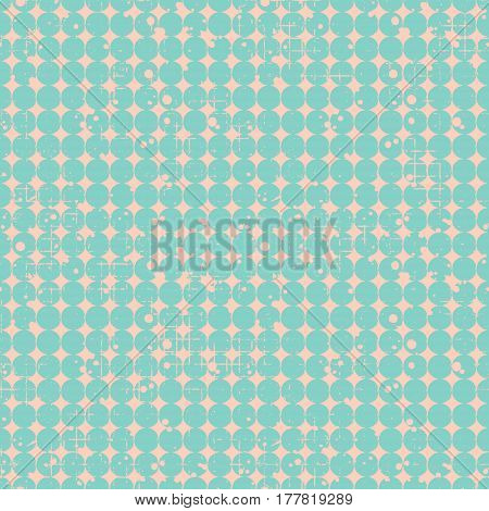 Seamless Vector Dotted Pattern. Creative Geometric Background With Circles. Grunge Texture With Attr