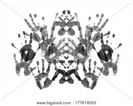 Sample of Rorshach test isolated on white