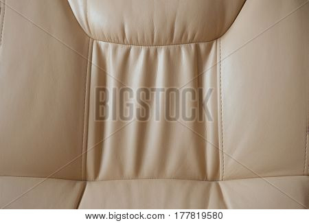 Beige sofa leather as texture