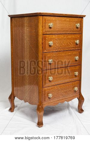 A recently restored / refinished lingerie cabinet.