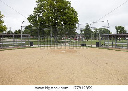 Baseball & softball field before game day begins