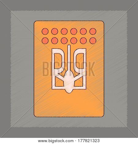 flat shading style icon emblem of Ukraine