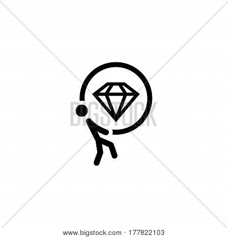 Offer Icon. Flat Design. Business Concept Isolated Illustration