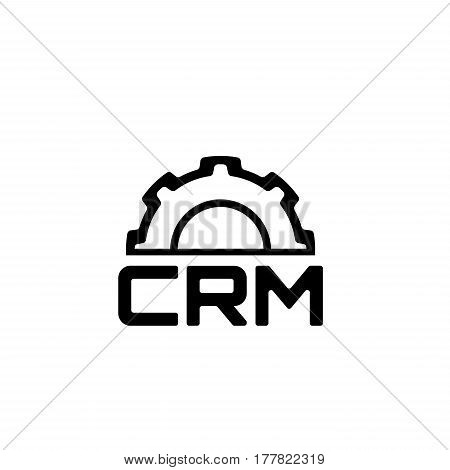 CRM Platform Icon. Business and Finance. Isolated Illustration