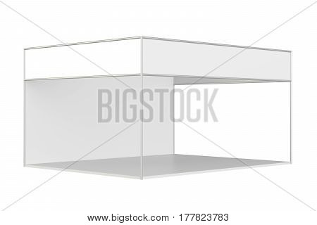 Template for easy presentation of exhibition standard stand. 3d rendering
