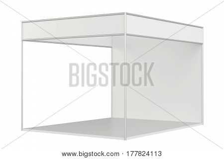 Exhibition standard stand for presentation. 3d rendering