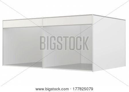 Trade show booth. 3d rendering isolated on white background