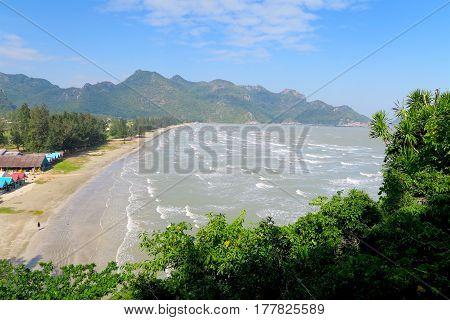 Seaview near the Phraya Nakhon Cave in Thailand