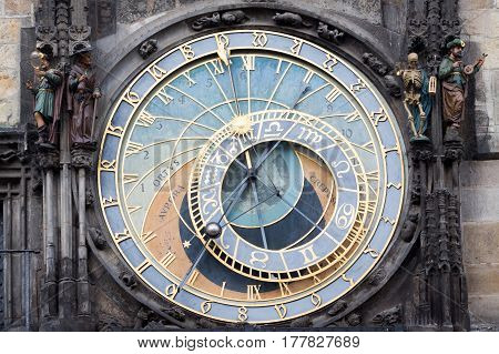 Astronomical Clock Old Town Hall Prague Czechia.