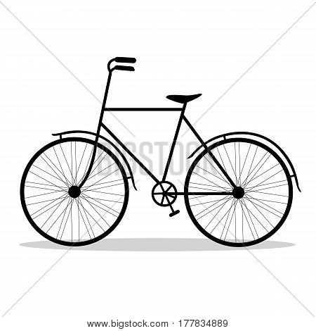 Bicycle. Bicycle isolated on a white background. Vector illustration.