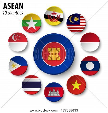 ASEAN ( Association of Southeast Asian Nations ) and membership . poster
