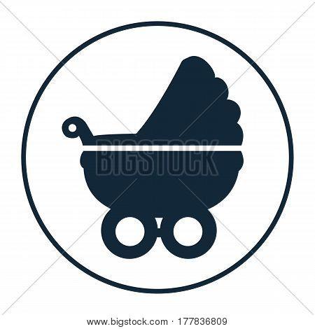 icon baby stroller. Flat stroller icon. Symbol stroller. Vector illustration.