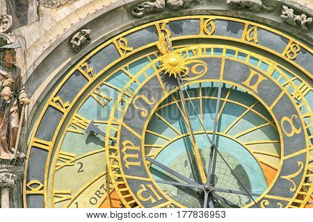 Detail Of Old Prague Clock