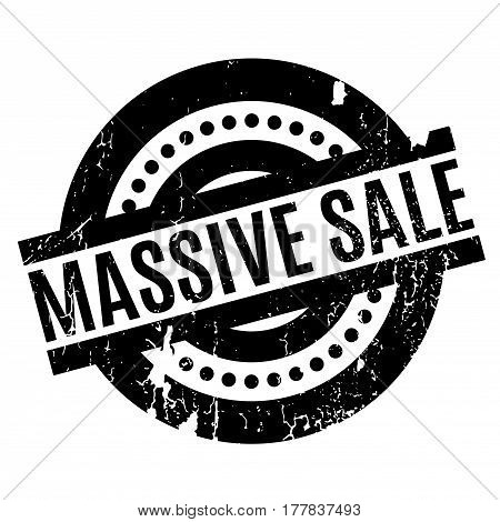 Massive Sale rubber stamp. Grunge design with dust scratches. Effects can be easily removed for a clean, crisp look. Color is easily changed.