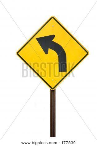 Sign - Road Curves Left