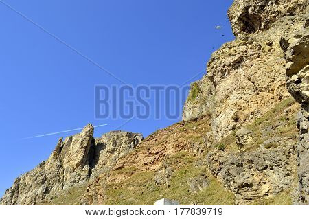 Llandudno west shore view of Great Orme in North Wales