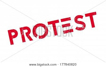 Protest rubber stamp. Grunge design with dust scratches. Effects can be easily removed for a clean, crisp look. Color is easily changed.