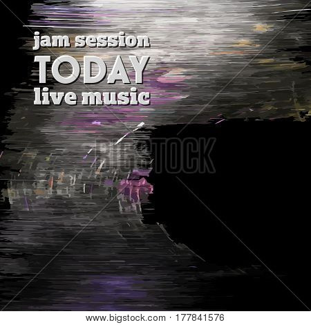 Abstract vector background and the words jam session