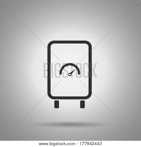 boiler icon. Water heat element . Simple boiler icon