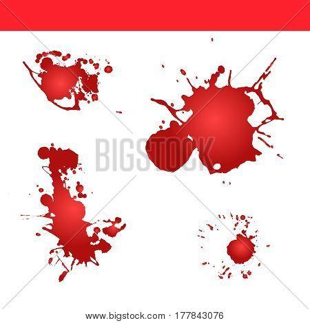 Blood splatter vector. Paint splash . Blood blot