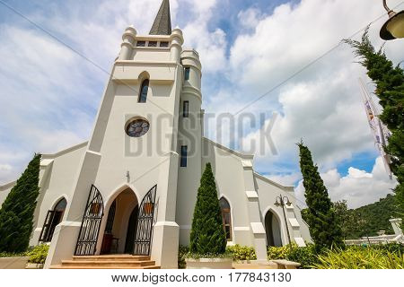 Nakhonratchasima Thailand - September 25, 2016 : Christian Church At Kensington English Hotel, Nakho