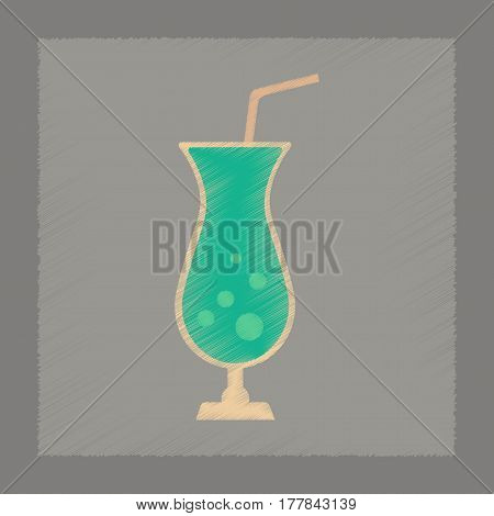 flat shading style icon poker glass of cocktail