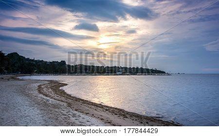 Sunrise Over Lamai Beach, Samui Island In Thailand