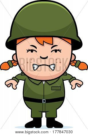 Angry Soldier Girl