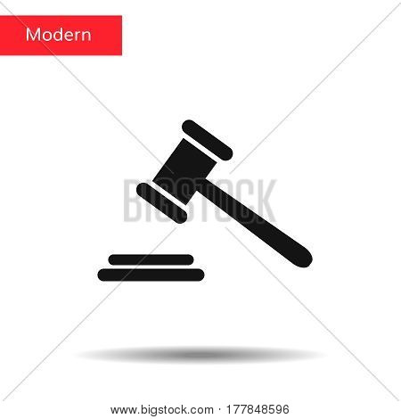 Judge Gavel icon isolated on background. Modern simple flat low sign.